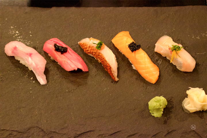 first 5 of the Omakase