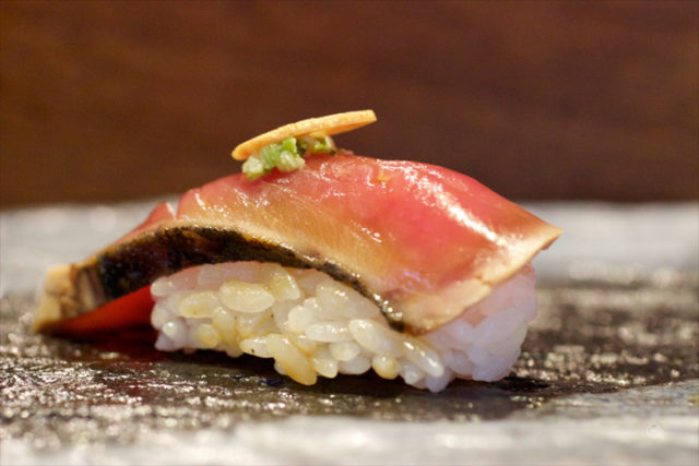 bonito with truffle soy sauce