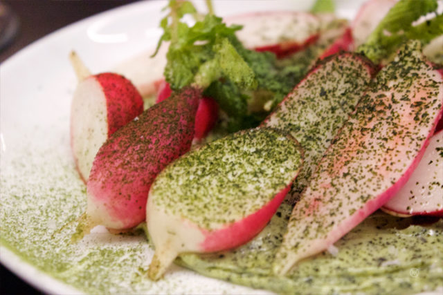 Breakfast radish & seaweed butter