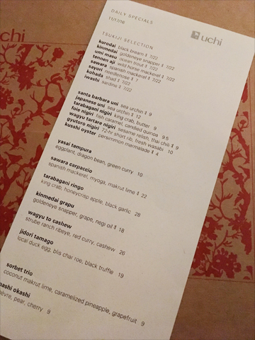 "the ""daily special"" menu"